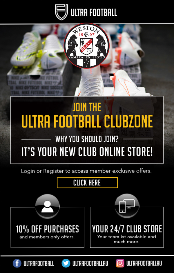 Weston Bears FC Join the Ultra Football Clubzone Flyer